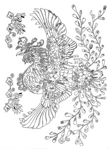 Lost Birds Coloring Book by Pippa Rossi, image three low resolution